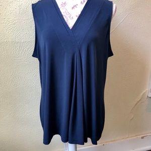 Dana Bachman Layering Top XL Navy Blue Polyester